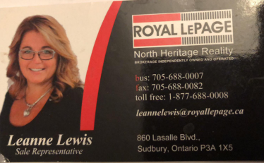Leanne Lewis Sales Rep Royal Lepage